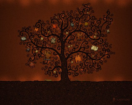 Drawn_wallpapers_Tree_of_books_007325_