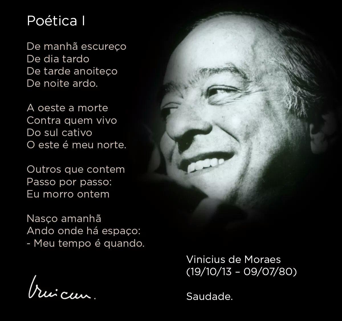 Muito Poesia na vida: Vinícius de Moraes, Poética – OPINIÃO CENTRAL GQ69