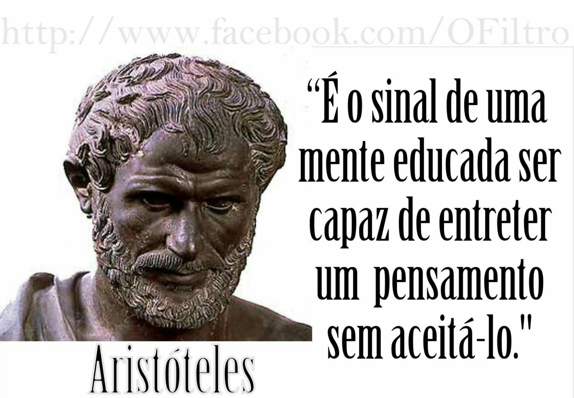 Preferência frases de Aristóteles – OPINIÃO CENTRAL YJ38